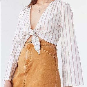Urban Outfitters tie front crop top